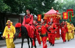 Sposa cinese nella portantina