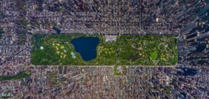 Central Park areal view