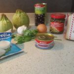 Stuffed Zucchinis and Tomatoes ingredients